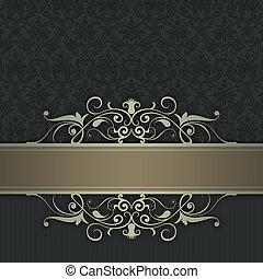 Decorative background with elegant border.