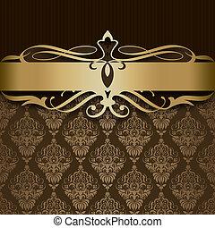 Decorative background with elegant golden border.
