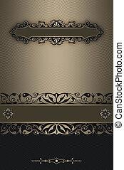 Decorative background with elegant vintage border.