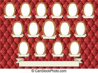 vignette - decorative background with fifteen frames for...