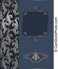 Decorative background with frame.