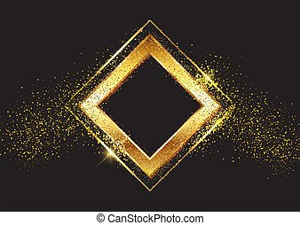 decorative background with glittery gold frame 2103