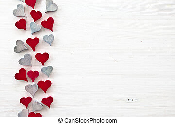 Decorative background with hearts