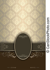 Decorative background with ornament and frame.