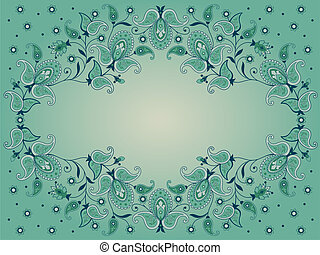 Decorative background with paisley