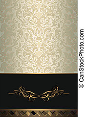 Decorative background with patterns.