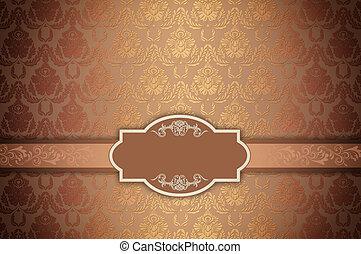 Decorative background with vintage patterns.