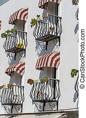 Decorative balcony of a house in Turkey