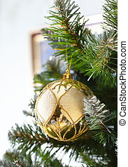 Decorative ball on the Christmas tree