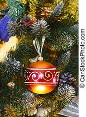 Decorative ball on the Christmas tree