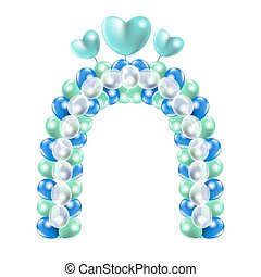 Decorative balloon arch