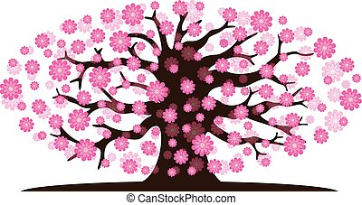 Decorative beautiful cherry blossom