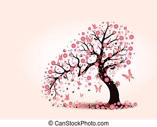 Decorative beautiful cherry blossom