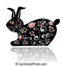 Decorative black rabbit
