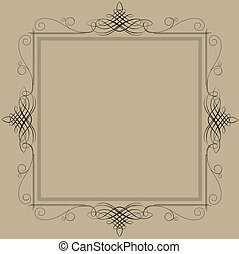 Decorative black vintage frame