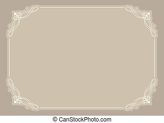 Decorative blank certificate background