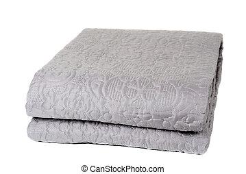 Decorative blanket isolated on white