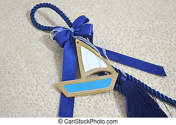 decorative blue christmas lucky charm
