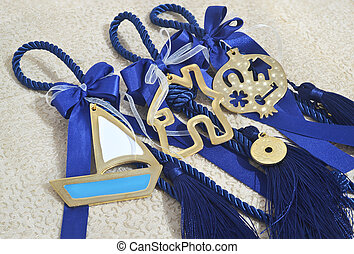 decorative blue christmas lucky charms