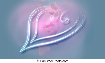 Decorative blue heart