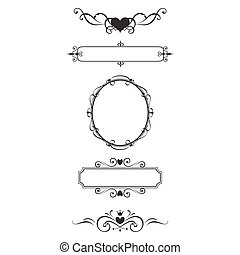 Decorative border and frame set.