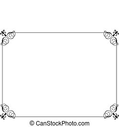 Decorative border - Decorative black border on a white...