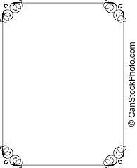 decorative border - Decorative black border on a white ...