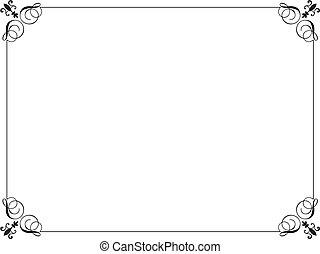 Decorative black border on a white background