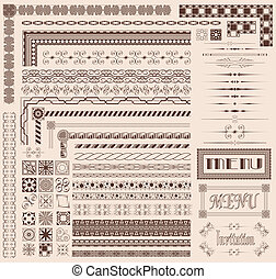 Decorative border elements - Decorative menu and invitation...