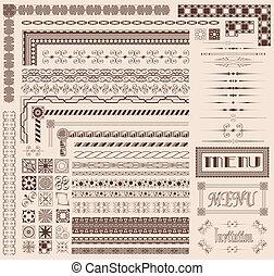 Decorative border elements - Decorative menu and invitation...