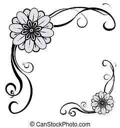 Decorative Border - Floral decorative border, with space for...