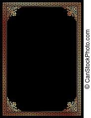 Decorative border frame background