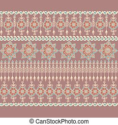 Decorative border in Indian style.