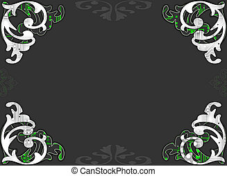 Decorative border page - A decorative tech style border on a...