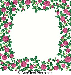 Decorative Border With Roses