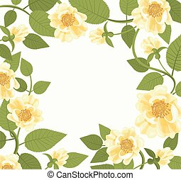 Decorative Border With Yellow Roses