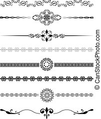 Decorative borders - Various different designs of decorative...