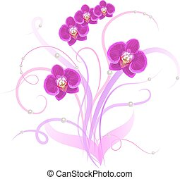 Decorative bouquet purple orchid