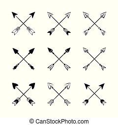 Decorative bow arrows