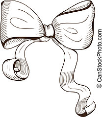 Decorative bow. - Sketch design element for holiday design....