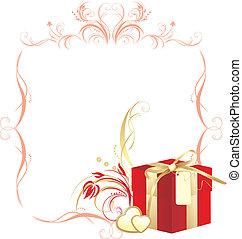 Decorative box and hearts