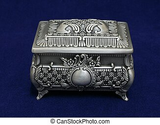 Decorative box - Pewter decorative jewellery box