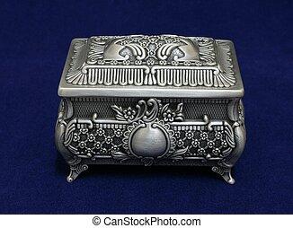 Decorative box - Pewter decorative jewellery box