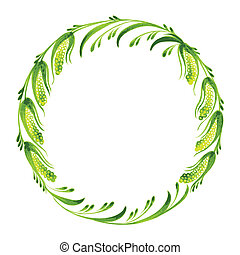 decorative branch of pussy willow - hand drawn illustration...