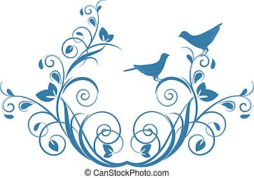 Decorative branch with birds.