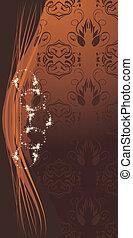 Decorative brown background