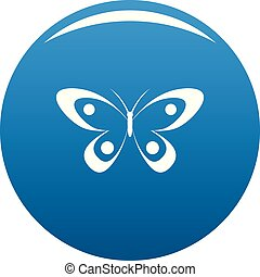 Decorative butterfly icon blue vector