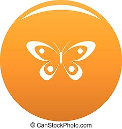Decorative butterfly icon vector orange