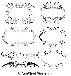 Decorative calligraphic frames and design elements