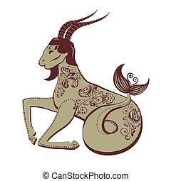 Decorative capricorn